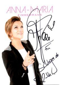 Autogrammkarte Anna-Maria Zimmermann