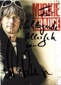 Autogrammkarte von Mickie Krause