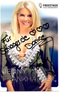 Autogrammkarte Jenny Frankhauser