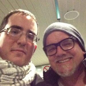 Schlager.de-Redakteur Andreas Breitkopf mit DJ Ötzi