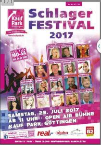 """Plakat """"Schlager Festival 2017"""""""