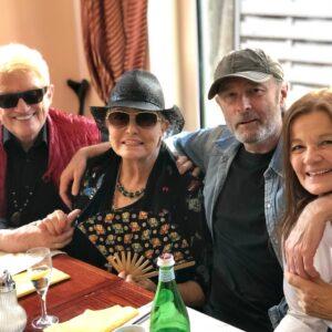 Wolfgang Petry und Heino mit ihren Frauen
